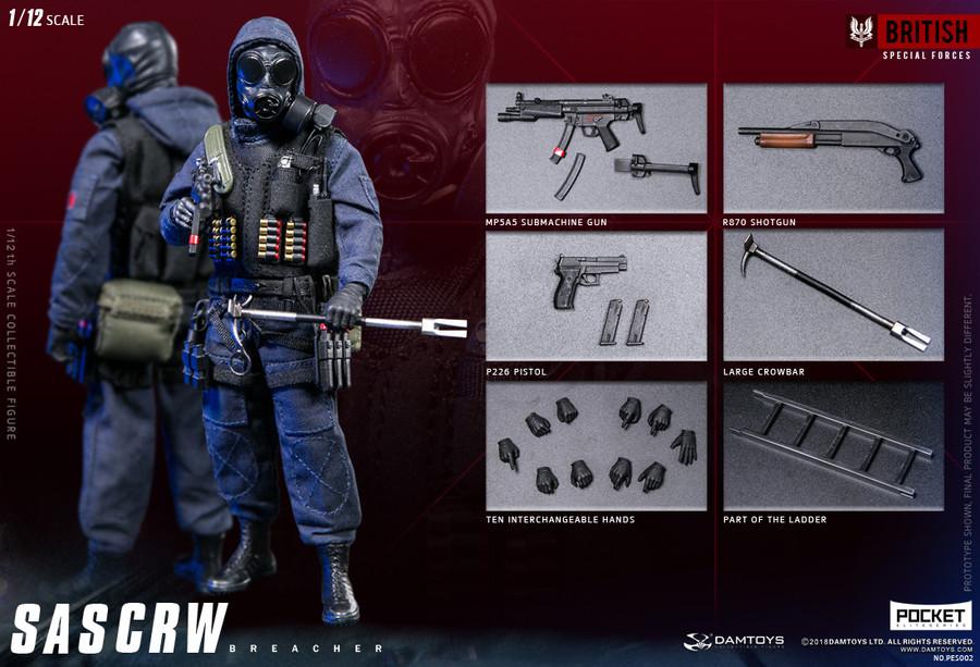 DAM Toys - 1/12 Pocket Elite Series: SAS CRW Breacher