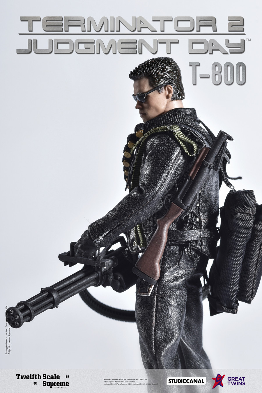 Great Twins - 1/12 Terminator 2: Judgement Day – T-800
