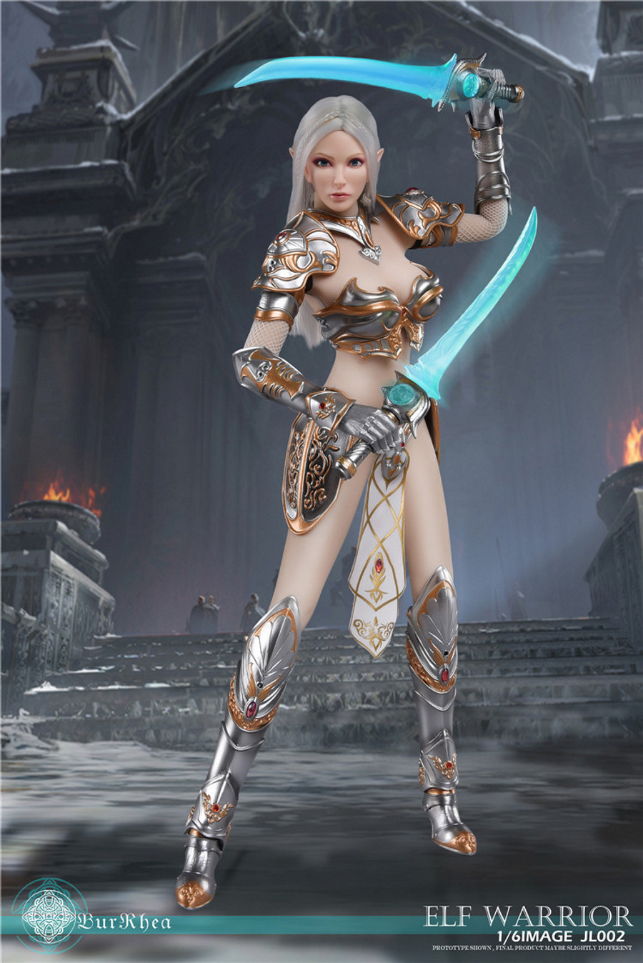 KY Workshop - Elf Female Soldier Burryna - Silver Deluxe Version
