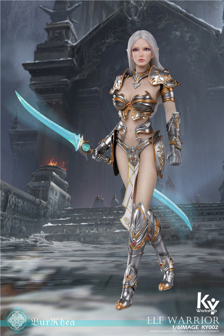KY Workshop - Elf Female Soldier Burryna - Silver Standard Version