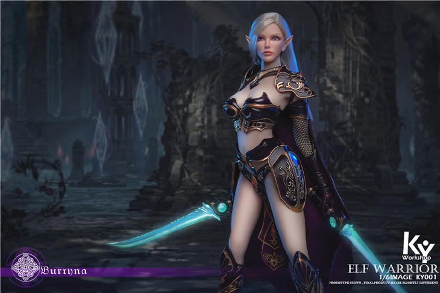 KY Workshop - Elf Female Soldier Burryna - Black Deluxe Version