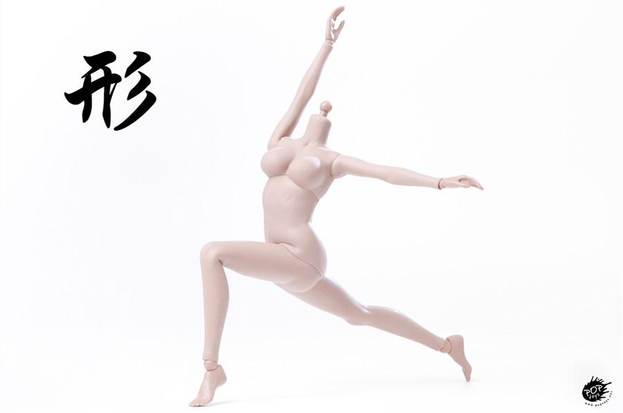 POP Toys - Super Flexible Female Body - Sun Tan (Steel Frame)
