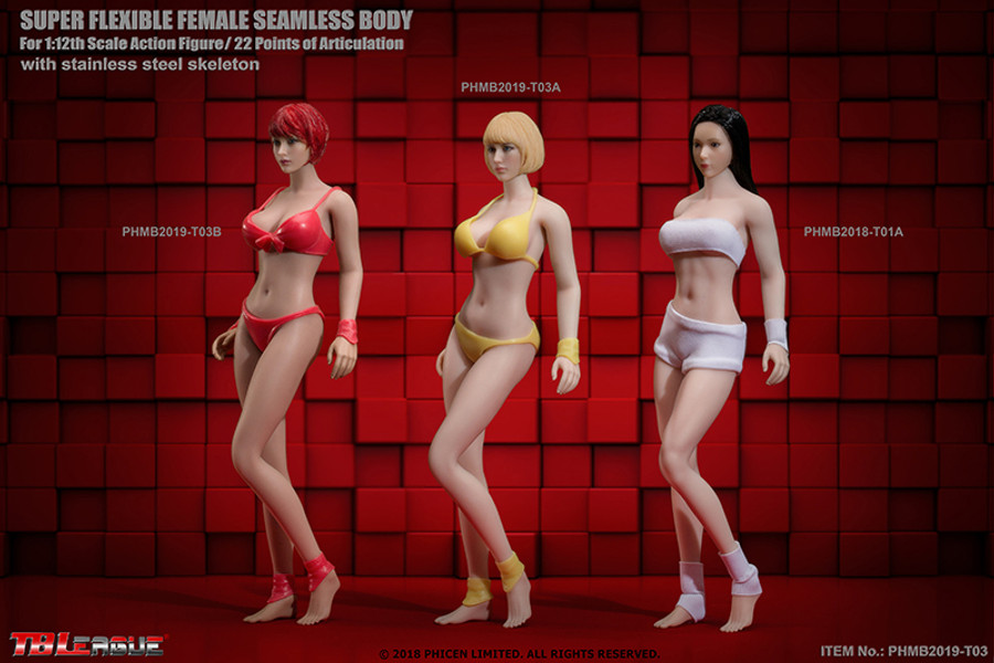 TBLeague - 1/12 Scale: Super-Flexible Female Seamless Pale Body T03A