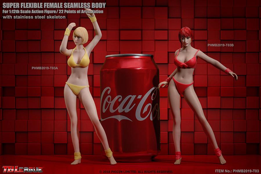 TBLeague - 1/12 Scale: Super-Flexible Female Seamless Suntan Body T03B