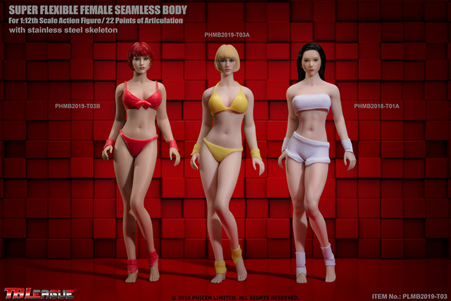 TBLeague - 1/12 Scale: Super-Flexible Female Seamless Suntan Body T03B