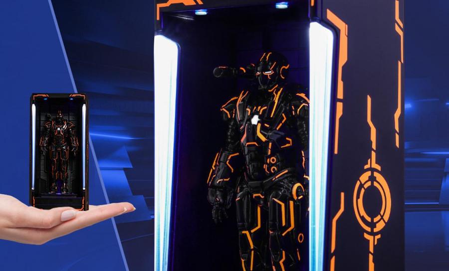 Hot Toys - Diorama Series - Neon Tech War Machine Hall of Armor