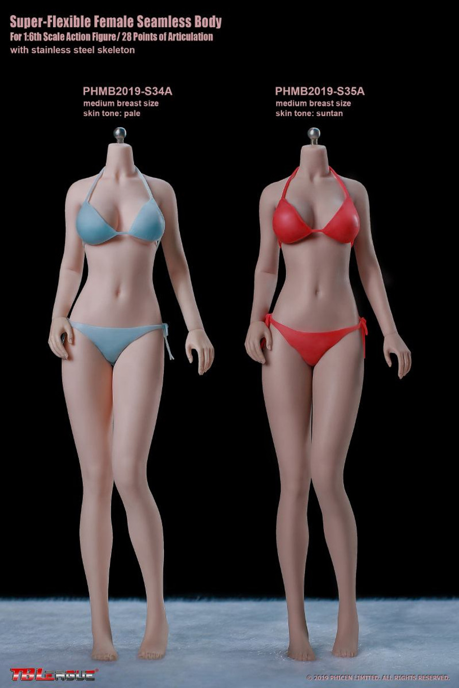 TBLeague - Girl Super-Flexible Seamless Body - S34A Pale Medium
