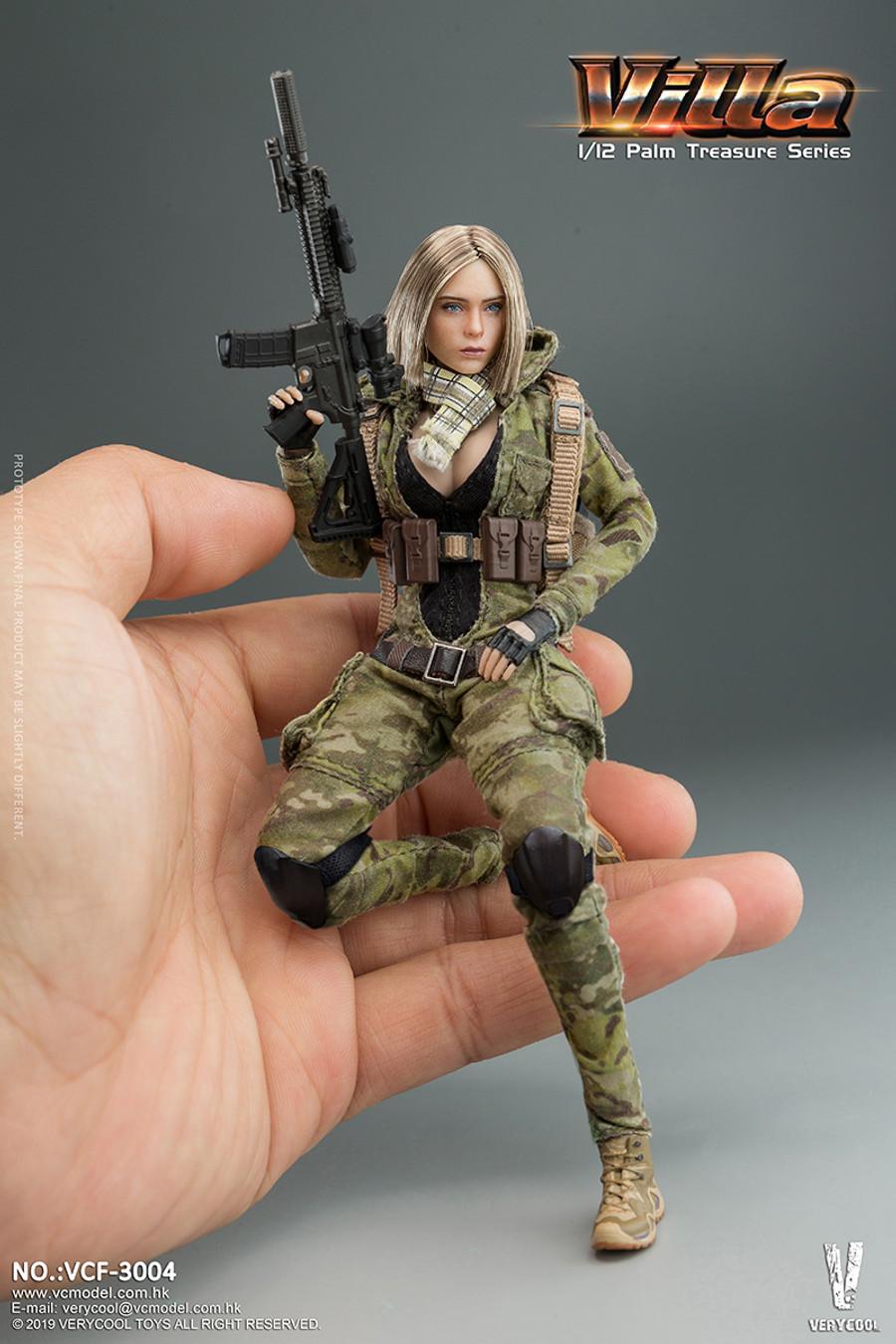 Very Cool - 1/12 Palm Treasure Series - MC Camouflage Women Soldier - Villa
