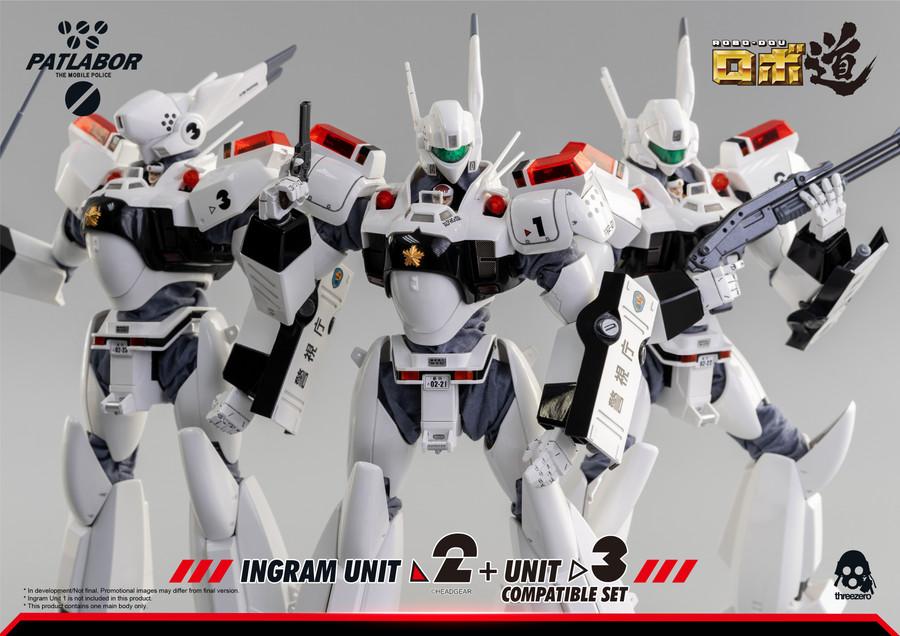 Threezero - Mobile Police Patlabor: ROBO-DOU Ingram Unit 2 + Unit 3 Compatible Set