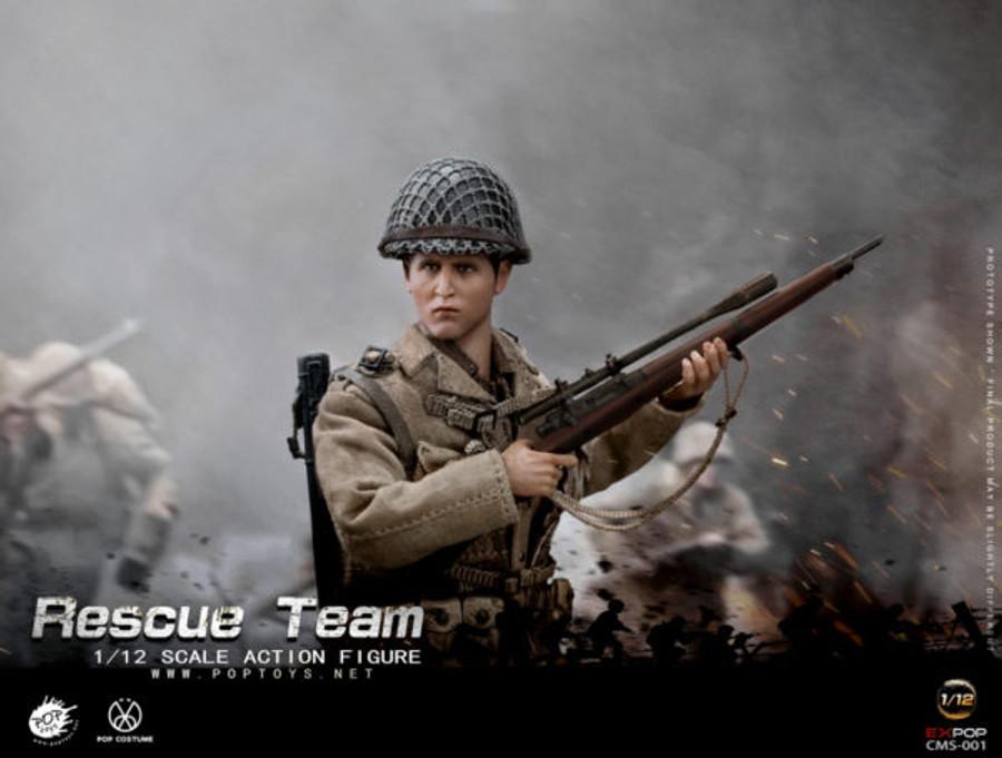POP Toys - WWII US Rescue Squad Sniper 1/12
