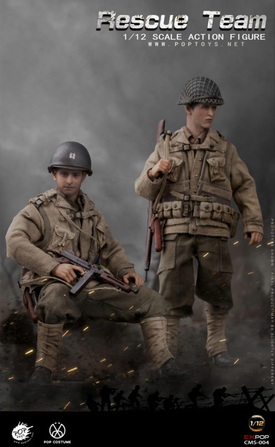 POP Toys - WWII US Rescue Squad Captain 1/12