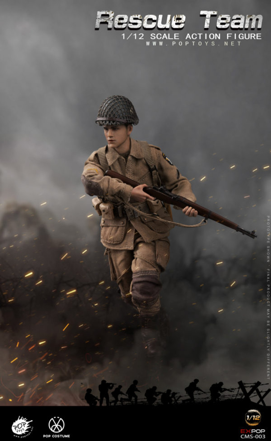 POP Toys - WWII US Rescue Squad Paratrooper 1/12