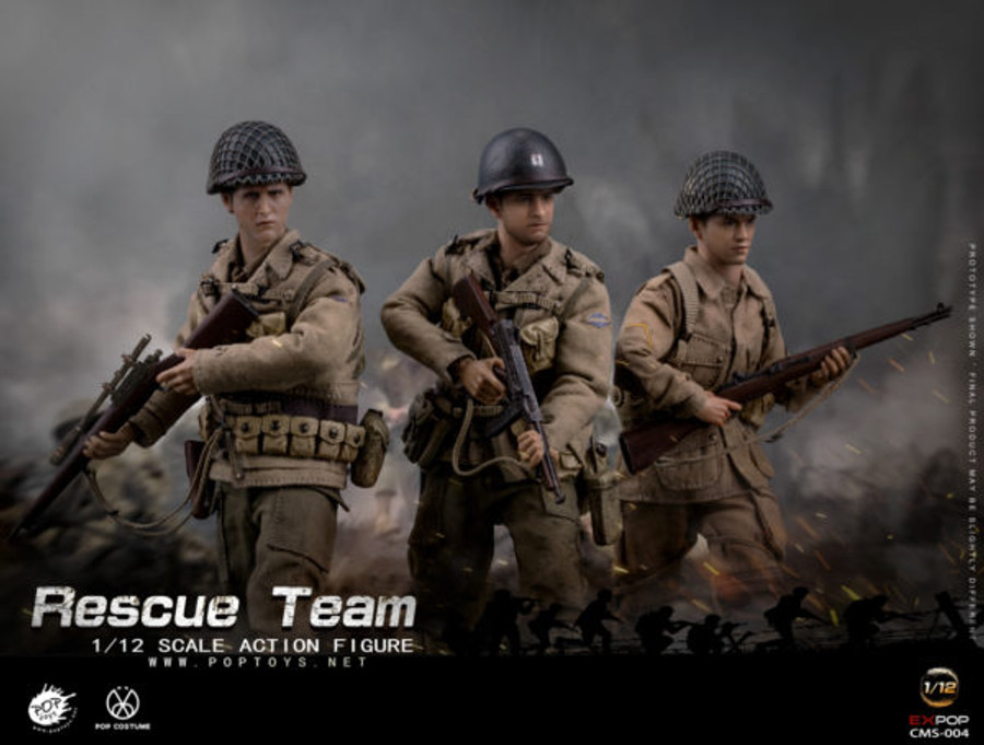 POP Toys - WWII US Rescue Squad Team 1/12 Set of 3