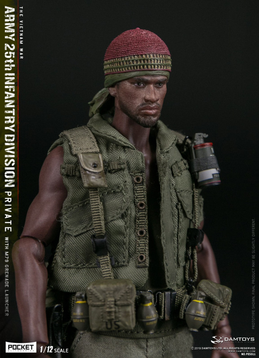 DAM Toys - 1/12 Pocket Elite Series - Army 25th Infantry Division Private WITH M79 Grenade Launcher PES011