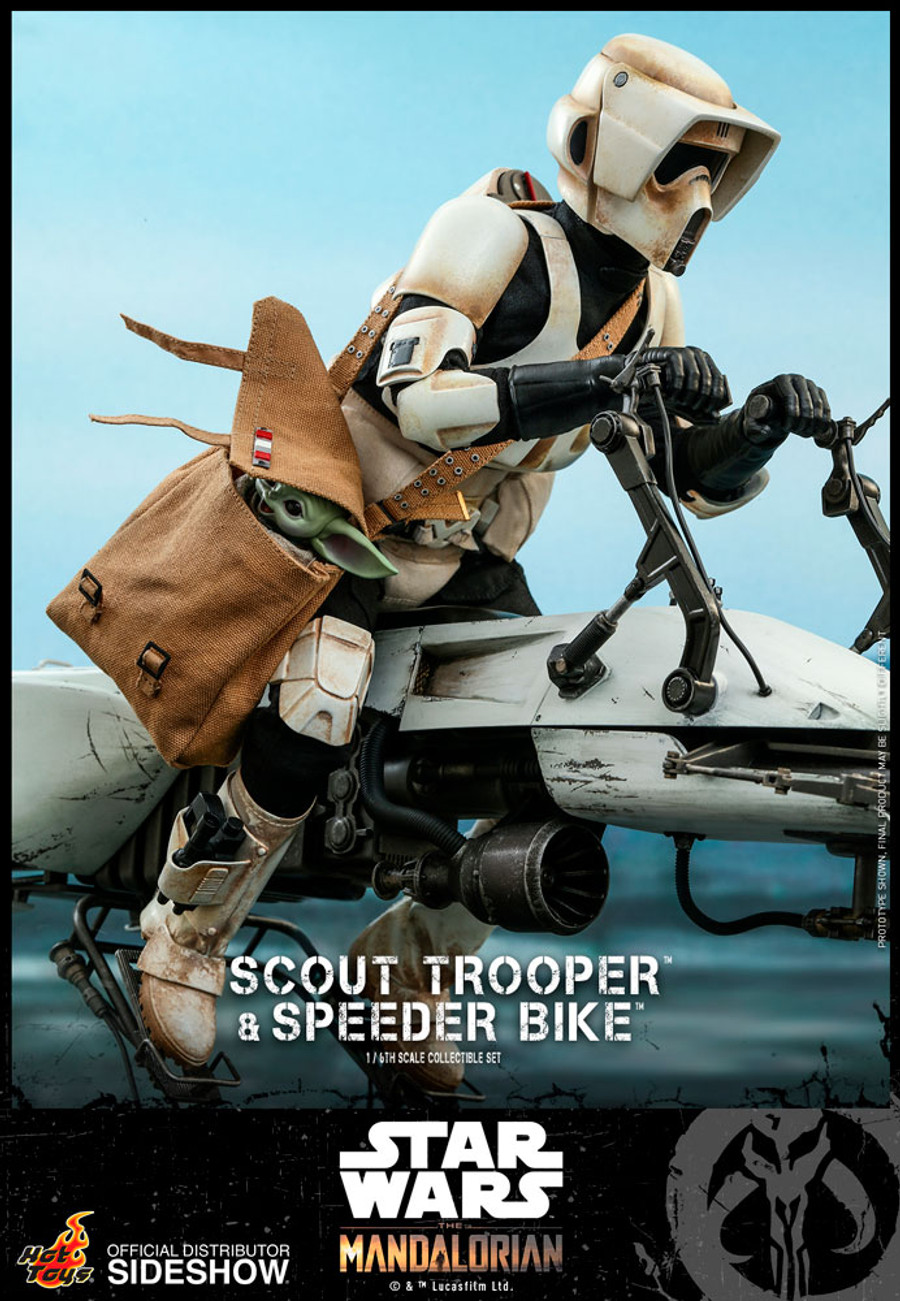 Hot Toys - Star Wars The Mandalorian - Scout Trooper and Speeder Bike Set