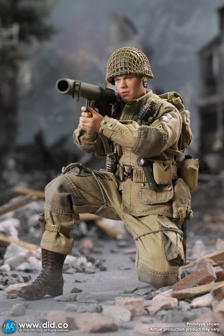 DID - 1/12 Palm Hero: WWII US 101st Airborne Division - Ryan