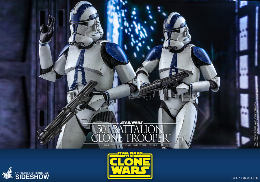 Hot Toys - Star Wars The Clone Wars - 501st Battalion Clone Trooper