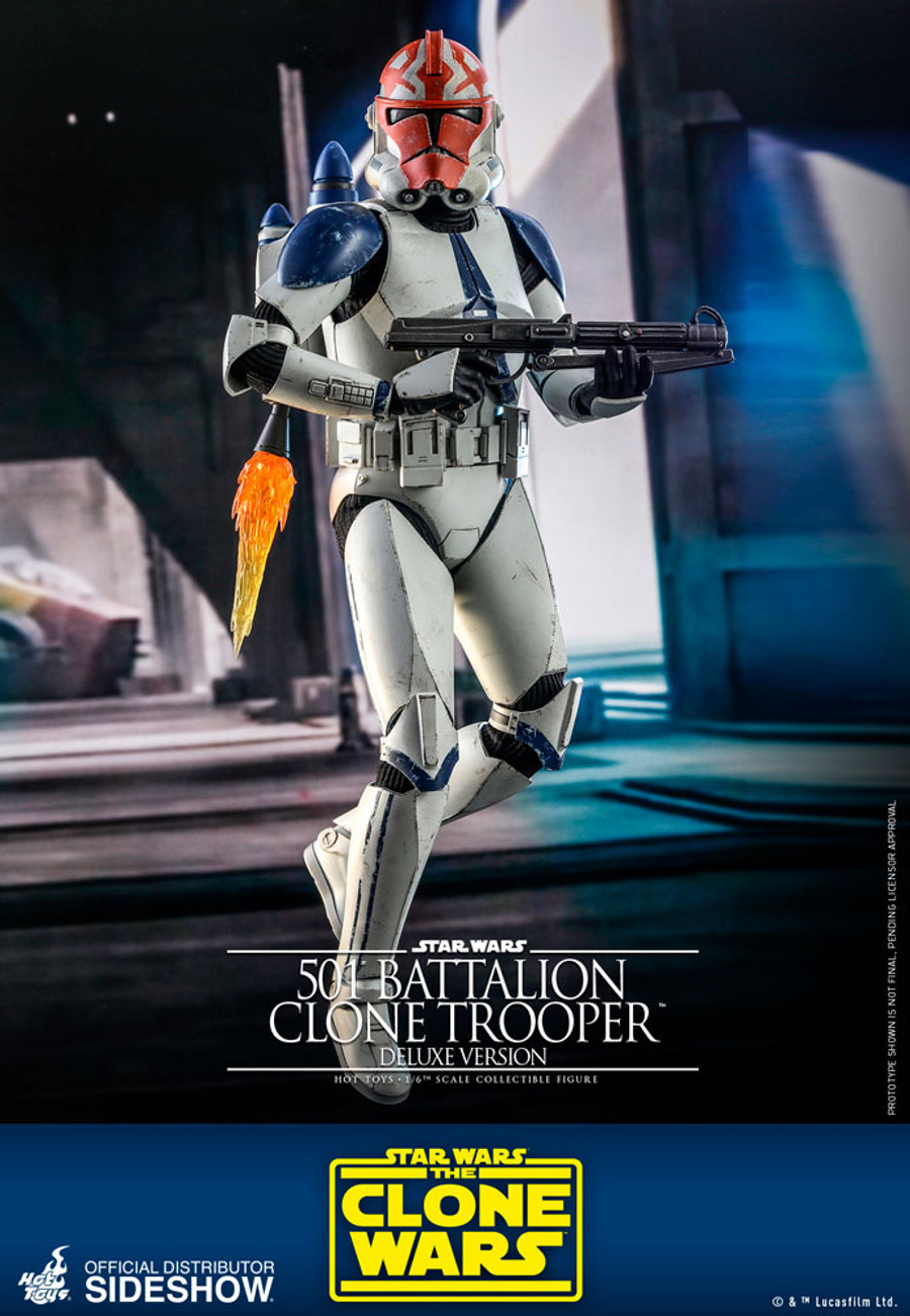 Hot Toys - Star Wars The Clone Wars - 501st Battalion Clone Trooper (Deluxe)