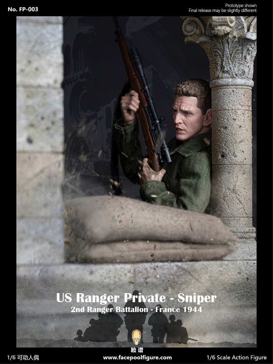 Facepoolfigure - 1944 WWII US Ranger Private Sniper Special Edition