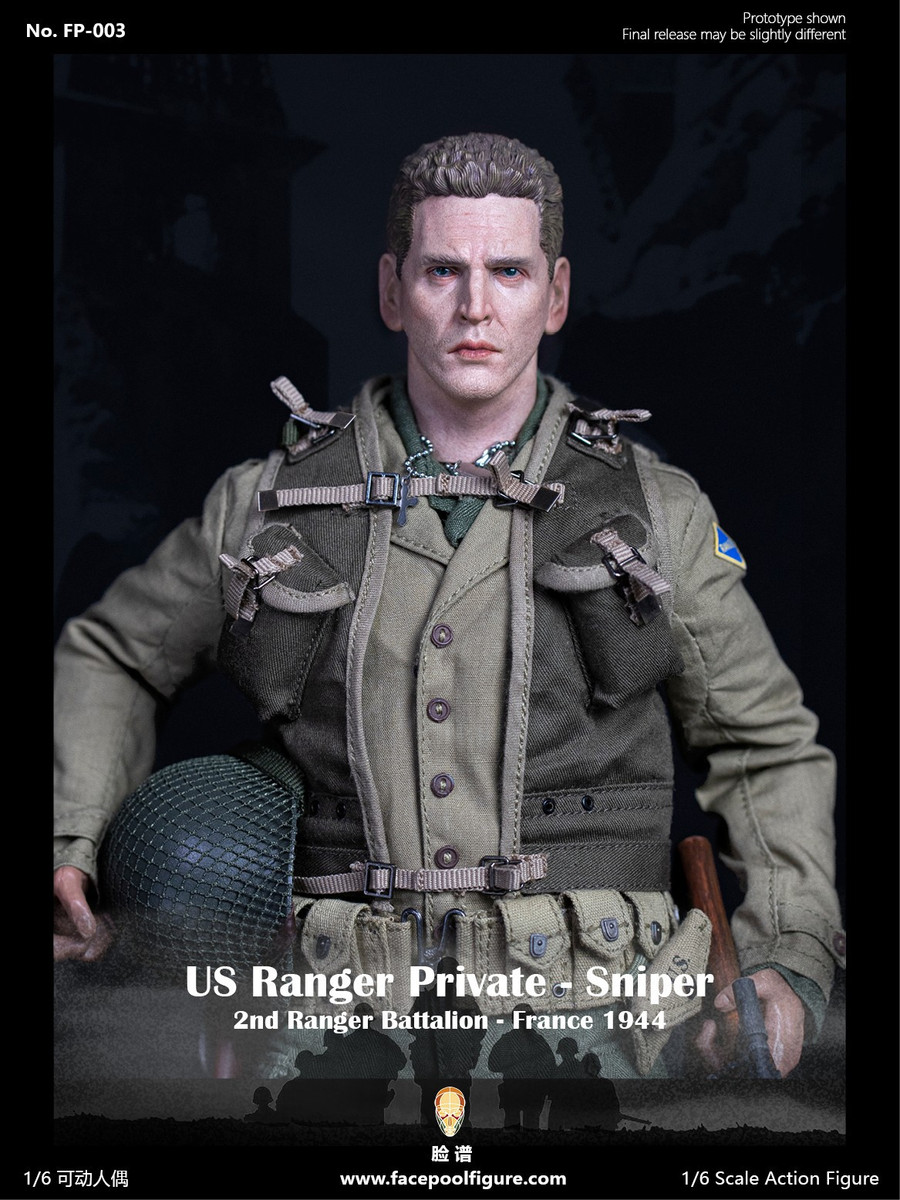 Facepoolfigure - 1944 WWII US Ranger Private Sniper Ordinary Version