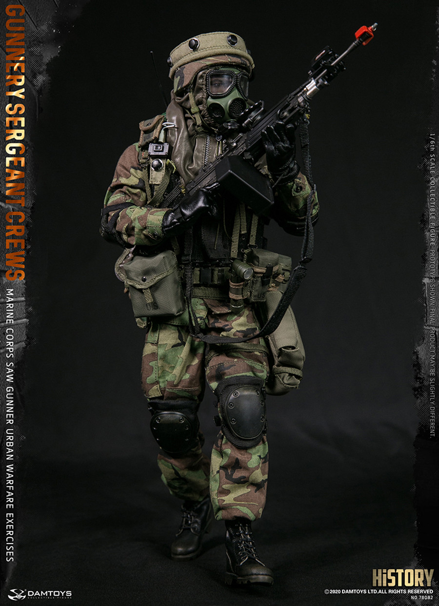 DAM Toys - Marine Corps Saw Gunner Urban Warfare Exercises - Gunnery Sergeant Crews