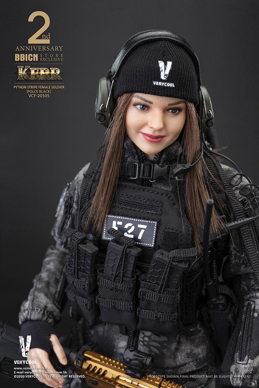 Very Cool - Police Black Python Stripe Female Soldier - Kerr