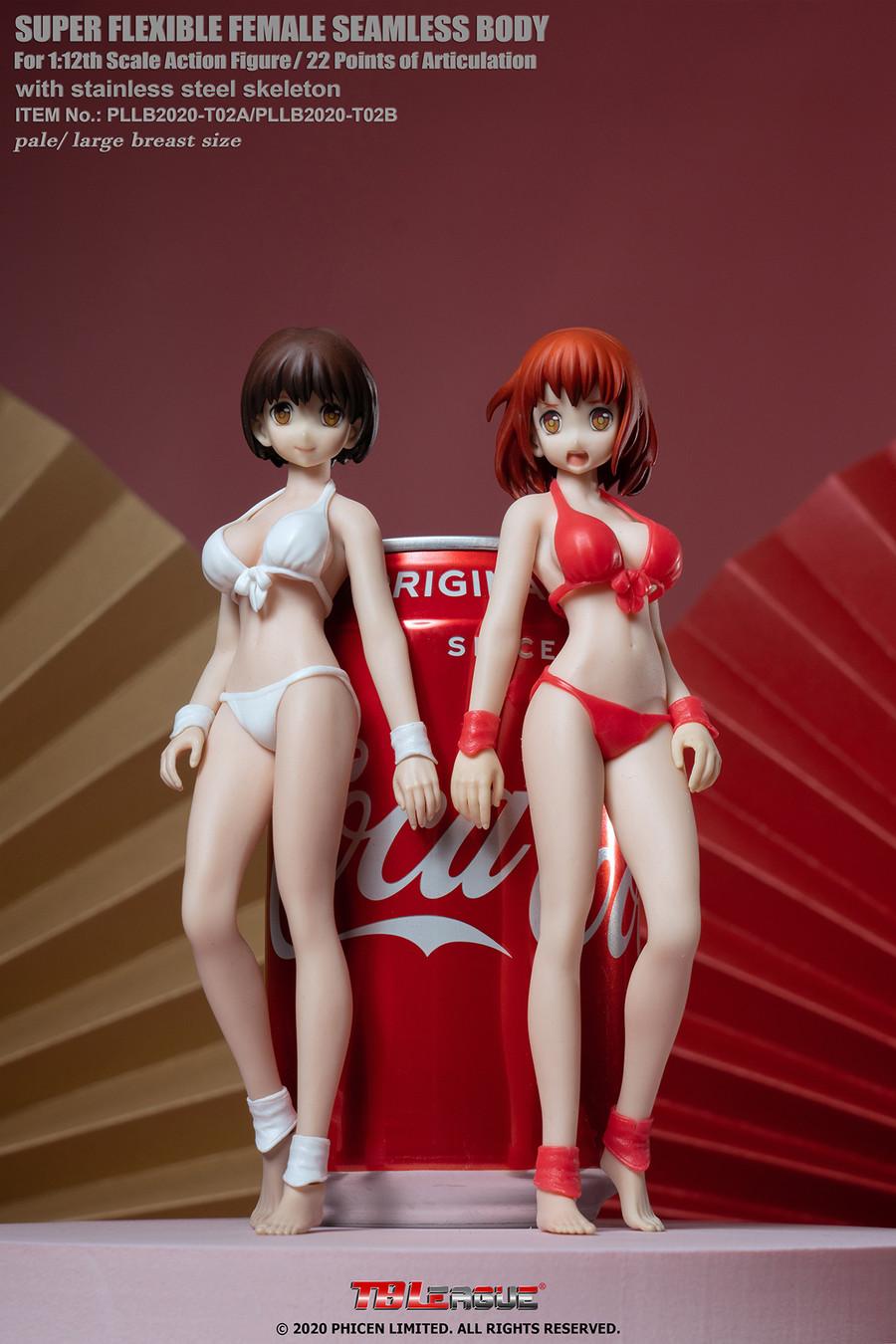 TBLeague - 1/12 Super-Flexible Female Seamless Pale Large Bust Body - Anime Red Bikini