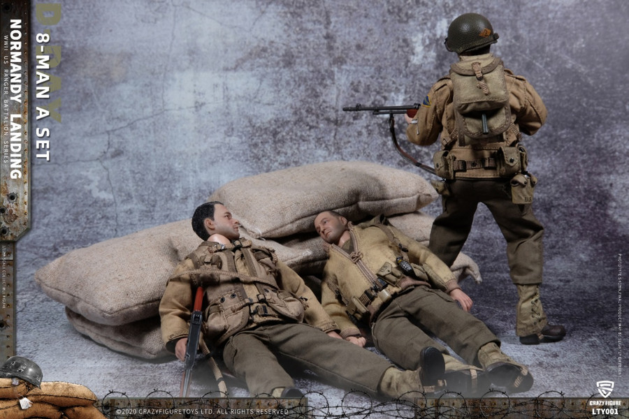 Crazy Figure -  WWII U.S. Army On D-Day Deluxe Edition - 8 Figures