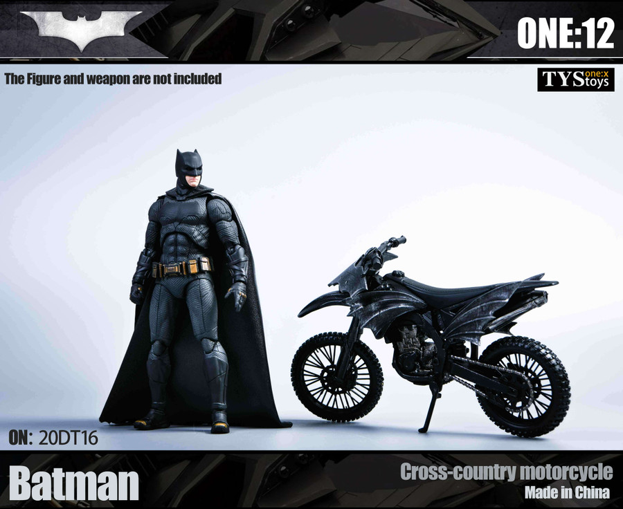 TYS Toys - 1/12 Batman Cross-Country Motorcycle