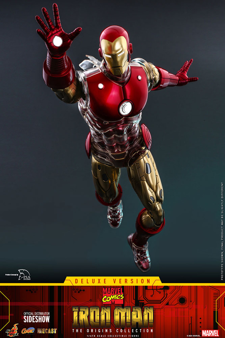 Hot Toys - Marvel Comics The Origin Collection: Iron Man [Deluxe]