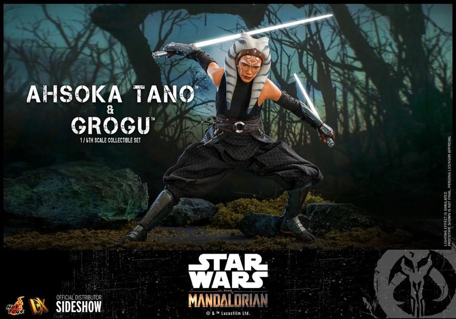 Hot Toys - Star Wars The Mandalorian - Ahsoka Tano and Grogu Set