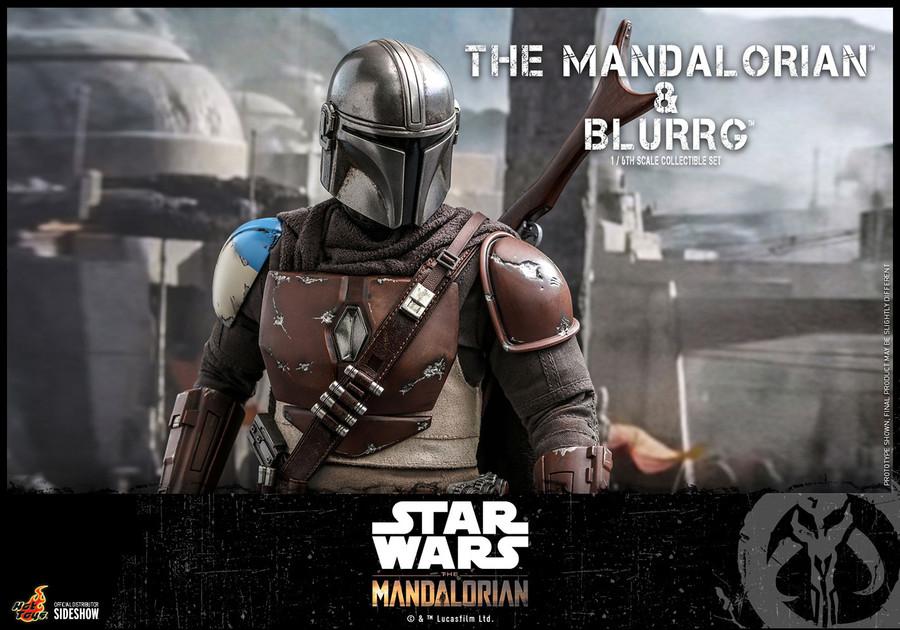 Hot Toys - Star Wars The Mandalorian - Mandalorian and  Blurrg Set