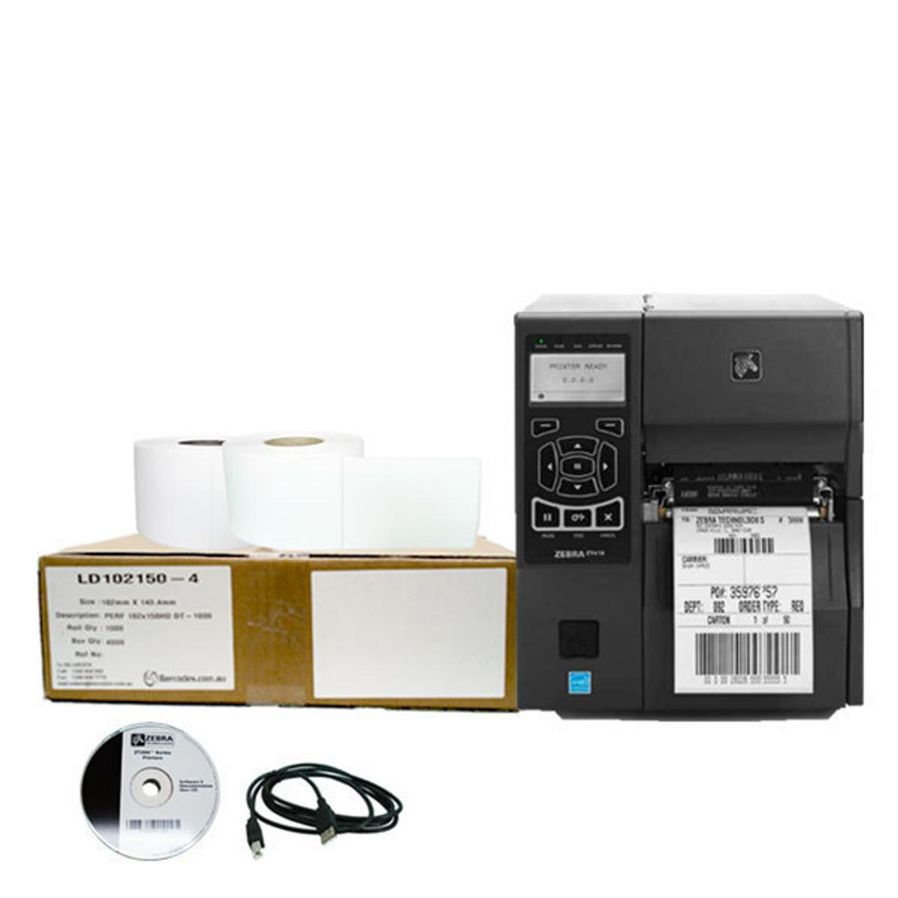 Shipping Label Printer Package Zebra ZT410 Printer