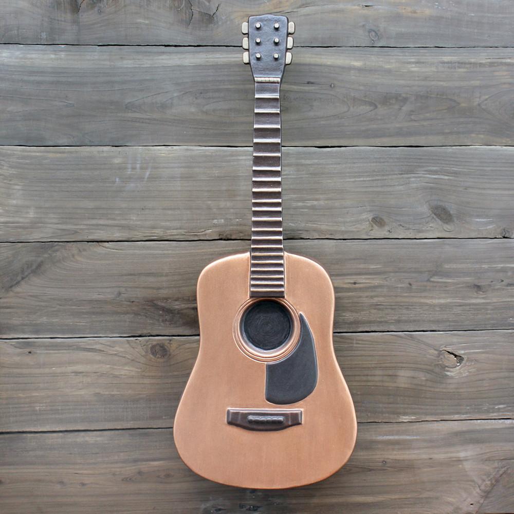 Display Example of Ceramic Guitar Urn