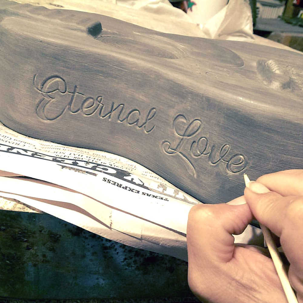 Hand made guitar urn