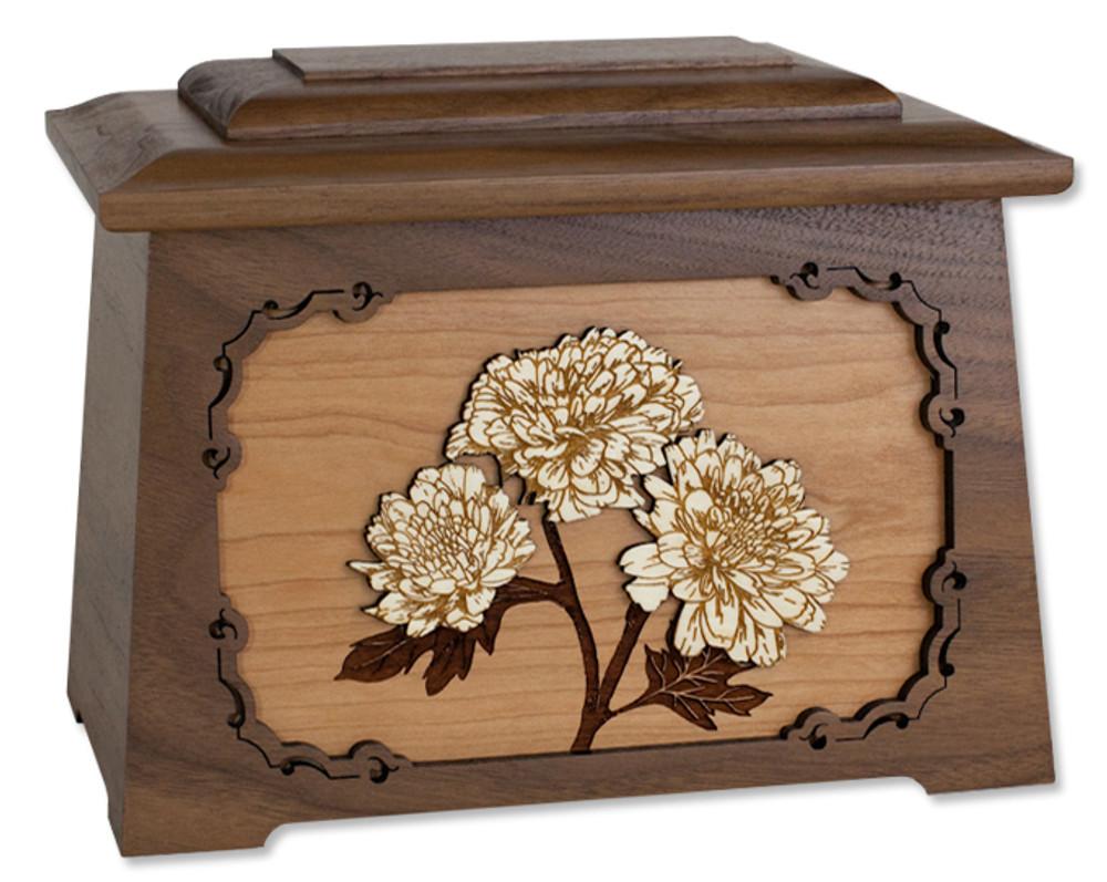 Mums Astoria Cremation Urn in Walnut Wood