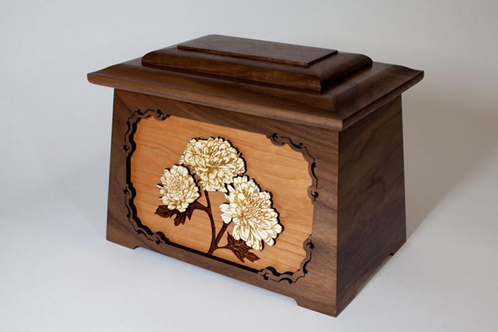 Mums Flower Cremation Urn