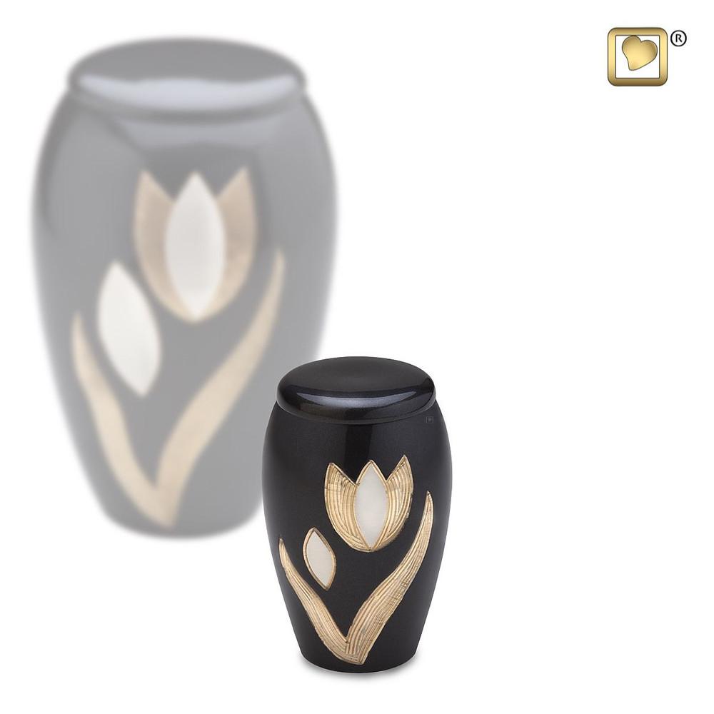 Majestic Tulip Brass Cremation Urn - Small Keepsake