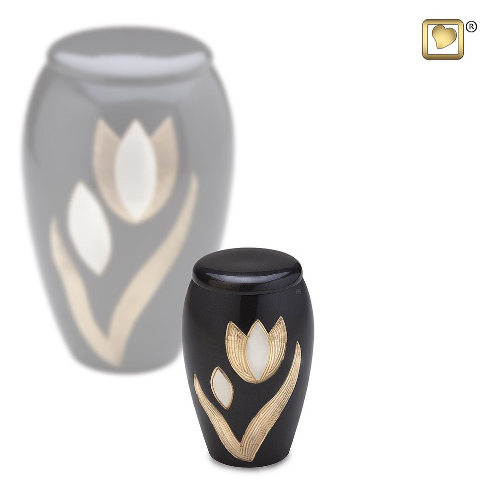 Majestic Tulip Brass Cremation Urn - Small Keepsake