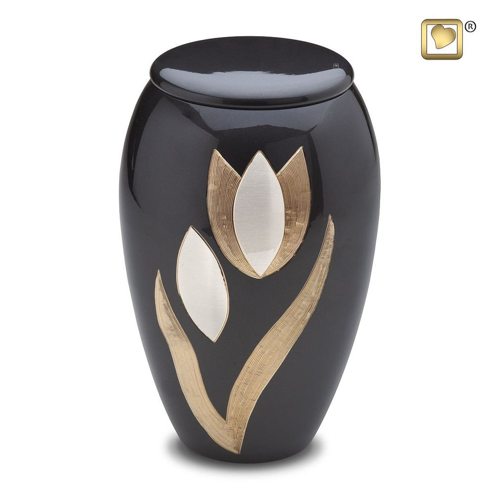 Majestic Tulip Brass Cremation Urn