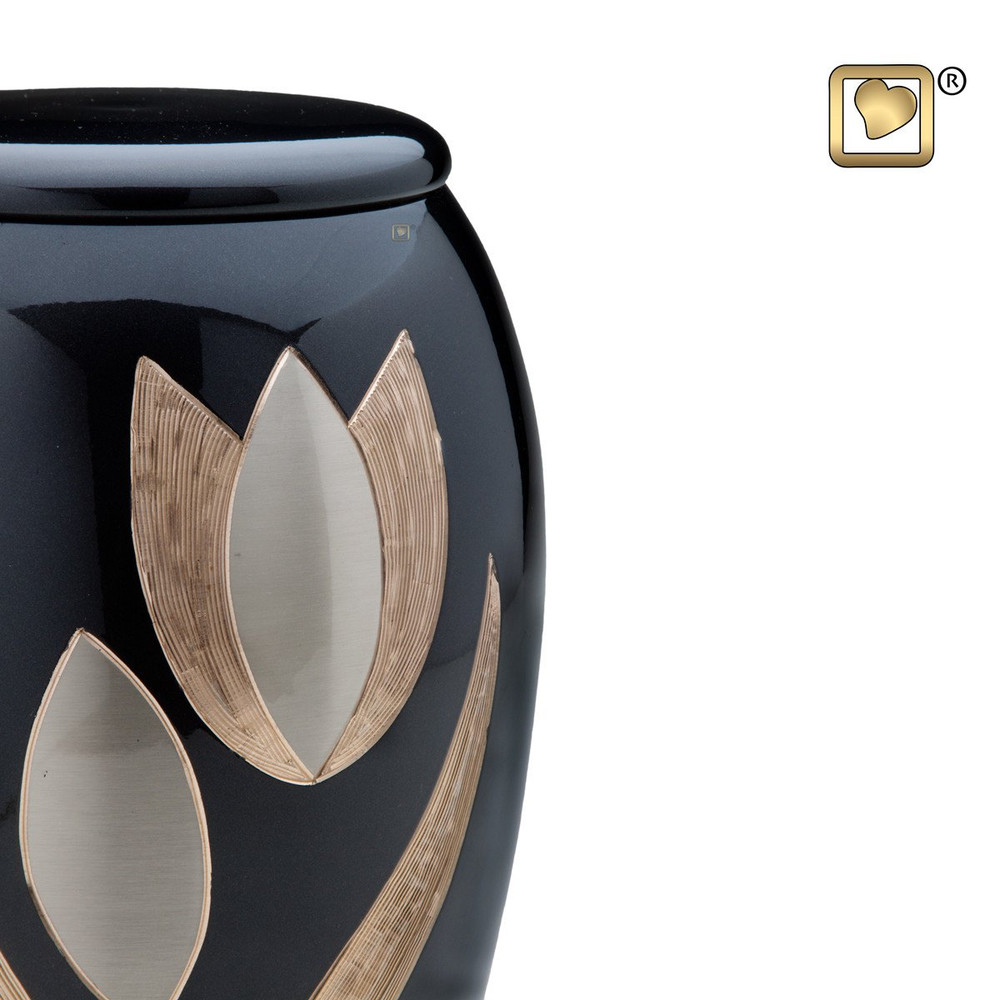 Majestic Tulip Brass Cremation Urn - Detail