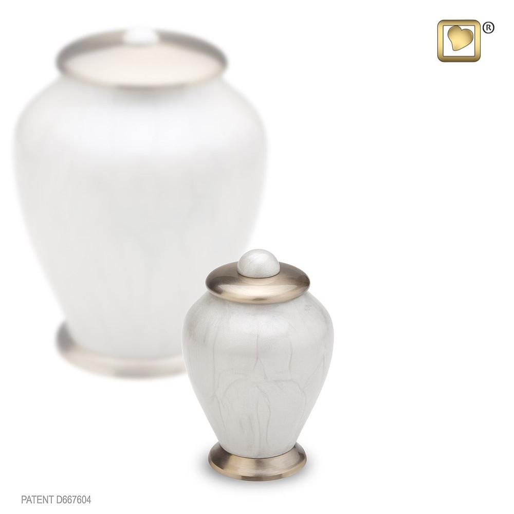 Pearl Simplicity Brass Keepsake Cremation Urn