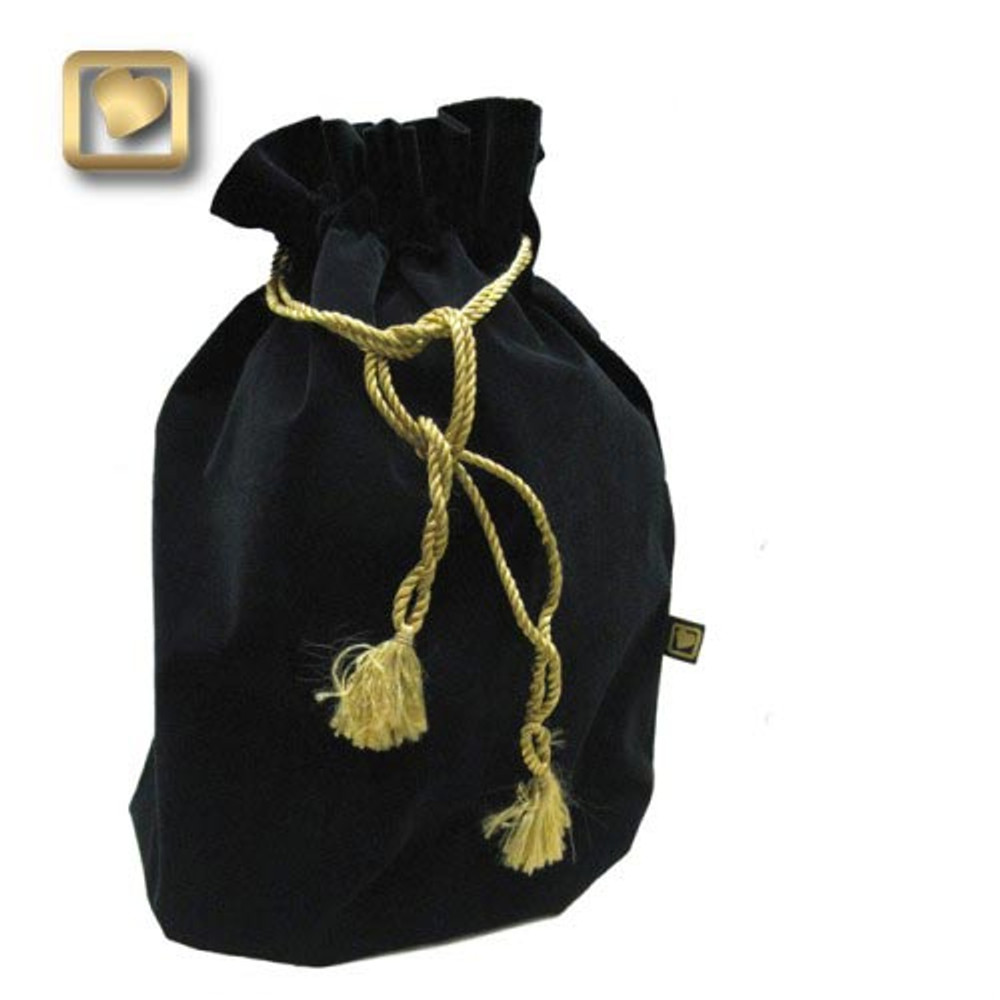 Velvet pouch included with Standard Adult and Tealight Urns