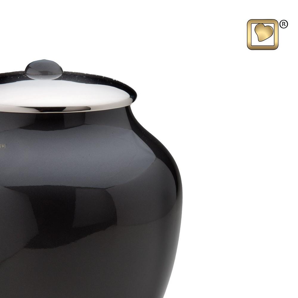 Midnight Simplicity Brass Cremation Urn - Detail