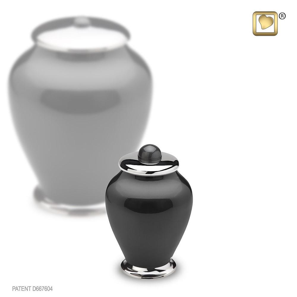Midnight Simplicity Brass Keepsake Urn
