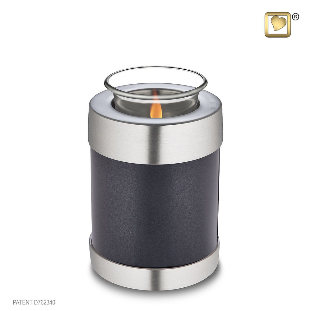 Midnight Simplicity Brass Tealight Cremation Urn