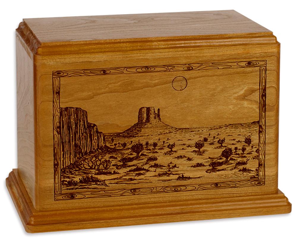 Desert Mesa Cremation Urn - Mahogany
