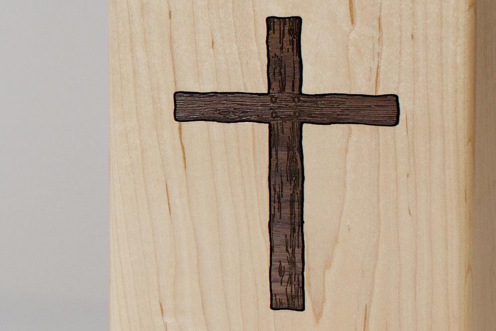 Christian Cross Inlay Detail