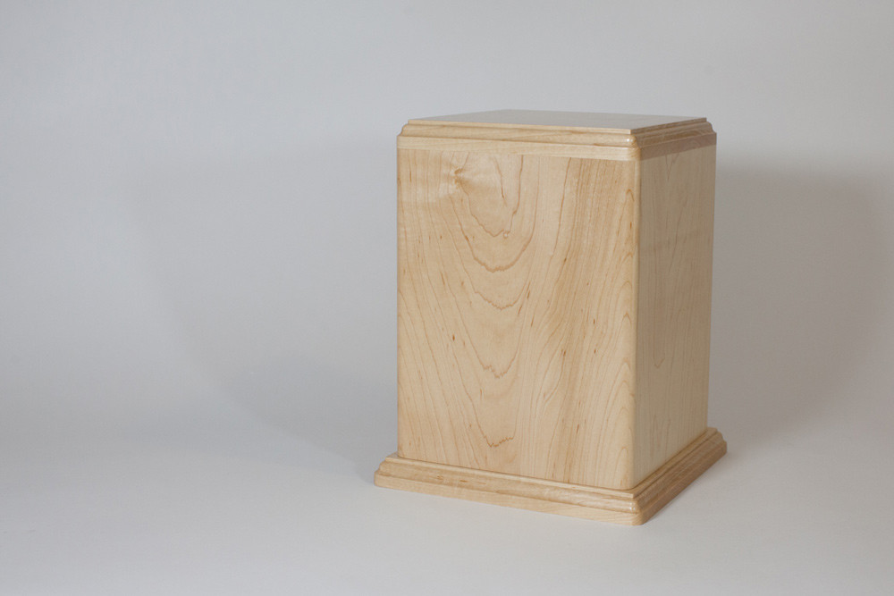 Maple Wood Urn - Back