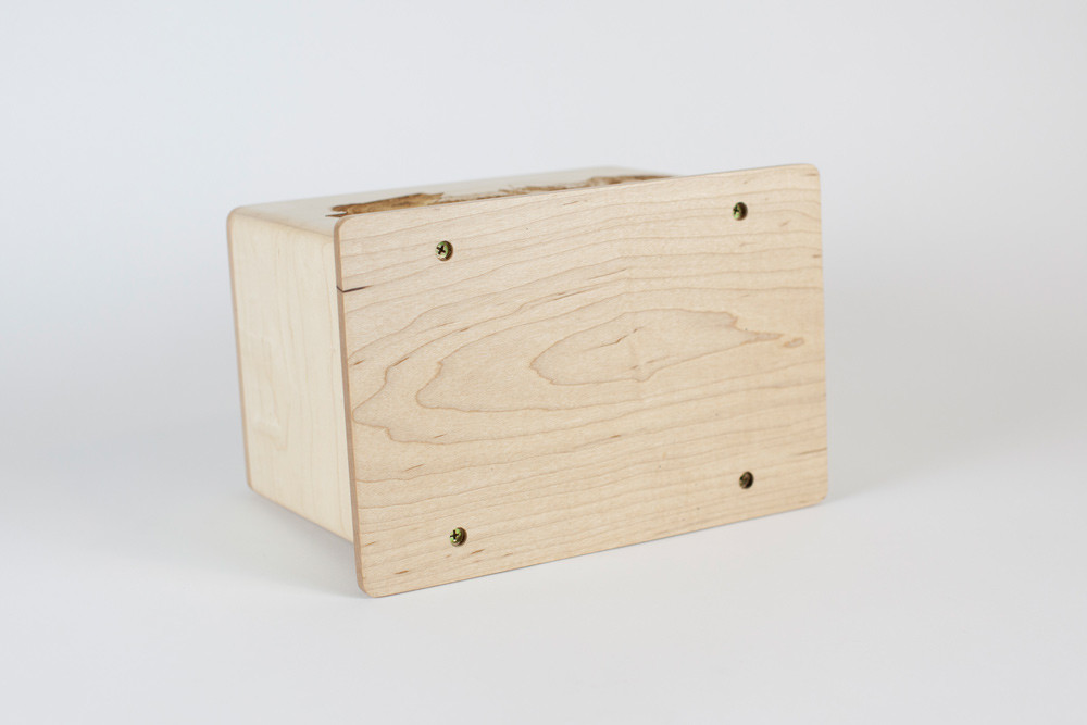 Maple Wood Cremation Urn - Removable Base Panel